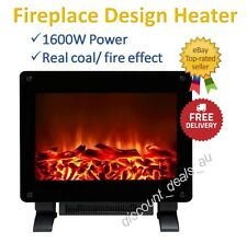 Electric Flame Effect Heater Fireplace Fire Place Design Heating 1600W 2 Heat