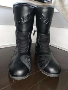 Bilt Hipora Motorcycle Boots Mens Size 14 Riding Black Zip