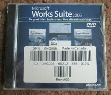Microsoft Works Suite 2006 Software Dvd Original Shrink Wrap (With Product Key!)