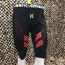 NEW HK Army Crash Padded Paintball Slider Shorts - Black/Red - 2/3XL