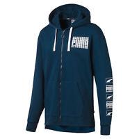 PUMA Rebel Bold Men's Fleece Full Zip Hoodie Men Sweat Basics
