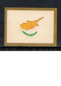 VERY EARLY CYPRUS FLAG CIGARETTE CARD