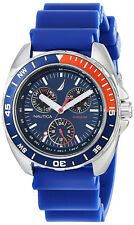 Nautica N07578G Sport Blue Dial Blue Resin Strap Chronograph Men's Watch