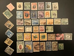 ECUADOR - EARLY ESTATE COLLECTION LOT USED & UNUSED SET OF 40+ OLDER STAMPS (ES)