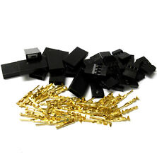 C1001GMF10 RC Battery Servo Connector for JR Set Male Female Plug Full Gold 10