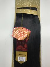 "SAGA GOLD YAKY 14""- #1B_100% HUMAN REMY HAIR WEAVE STRAIGHT EXTENSION"
