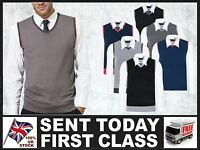 Fitted Mens Tank Tops Business Sweater ▌Knitted V-neck Sleeveless Vest on shirt