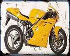 Ducati 916 Biposto 96 A4 Photo Print Motorbike Vintage Aged