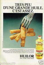 Publicité advertising 1978 Huile d'Arachide Huilor .....Frites