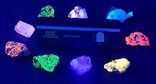 Shortwave Longwave Ultraviolet Mineral Kit 8 Fluorescent minerals UV glasses M85