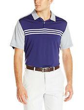 ADIDAS GOLF MEN'S CLIMACOOL ENGINEERED 3-STRIPES POLO SIZE L NEW