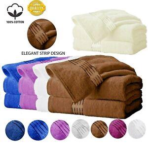 2 Piece Luxury Bath Towel Bathroom Sheet Bale Set Soft Egyptian Cotton 450 GSM