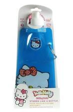 Botella de Agua Plegable De Hello Kitty Niños Escuela Plegable 480ML Azul