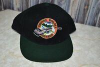 Amtrak Train Empire Builder Snapback Cap Hat Vintage Black Green Otto Wool Blend