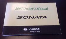 2007 HYUNDAI SONATA Owner's Manual Free Shipping