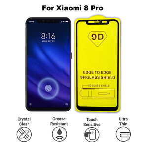 For Xiaomi Mi 8 Pro 3D Screen Protector  Tempered Glass Full Glass Coverage