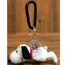 Vintage Snoopy Peanuts Mascot Key Charm Sleeping Plush Doll Chain