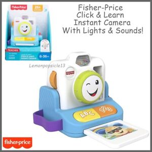 Fisher-Price Toy Camera Click and Learn Instant Camera GMX42