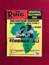 "1974, Muhammad Ali (George Foreman), ""The Ring"" Magazine (No Label) Scarce"