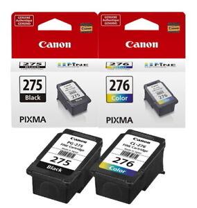 Genuine Canon PG-275 & CL-276 Ink Cartridges - Black & Color For Pixma TS3520/22