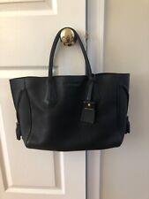 Longchamp Large Penelope Black Leather Satchel Tote Tassel Bag Purse