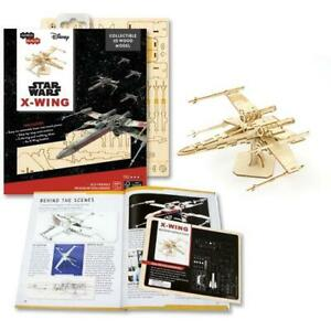 Star Wars 3D Laser Cut Jigsaw Wooden Puzzle X-Wing Fighter Model+ Deluxe Booklet