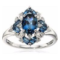Gorgeous Aquamarine Wedding Engagement Women Ring Blue Size 10 O1A5 CQ