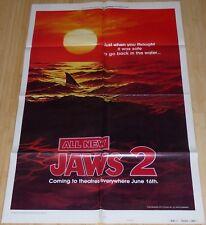 Jaws 2 1978 Original Advance Teaser 1 Sheet Movie Poster Style B Very Rare