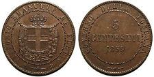 Vittorio Emanuele Re Eletto, 5 centesimi 1859 quasi SPL