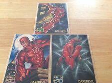 1995 Fleer Marvel Masterpieces  Daredevil #25-26-27, 3 Cards