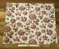 Antique 19th century ethnic floral Indienne style - midscale cotton fabric