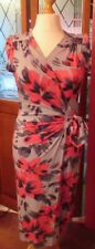 M&S PER UNA STRETCH WRAP FLORAL MIX DRESS UK 14 MED RRP £39.50 NEW WITH TAGS *