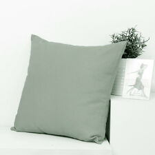 Green Grey Cotton canvas Soild Plain Throw PillowCase Cushion Cover Zipper 45cm
