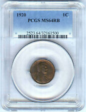 1920 LINCOLN CENT PCGS MS64RB