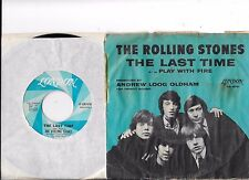 ROLLING STONES * 45 * The Last Time * 1965 * WHITE LONDON VG+ w/ PICTURE SLEEVE