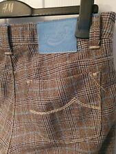 "JACOB COHEN Carlo Barbera handmade Jeans Size 35 Wool Trousers Check 36""W 29"" L"