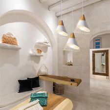 3X White Pendant Lighting Kitchen Lamp Modern Ceiling Lights Wood Pendant Light