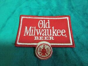 """Old Milwaukee Beer Iron-On Patch  3 ½"""" x 3"""" ~ FREE SHIPPING"""