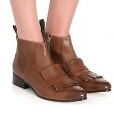 Mimco $299 Brand New Cognac Sashay Boots Flats Wedges  Shoes 40 Or 9