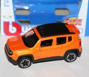 Burago - JEEP RENEGADE (Orange) - 'Street Fire' Model 1:43