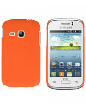 Coque rigide orange pour Samsung Galaxy Young S6310 aspect mat toucher rubbe