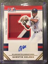 2017 Stars & Stripes Jumbo Swatch Auto Prime Quentin Holmes #'d 13/25