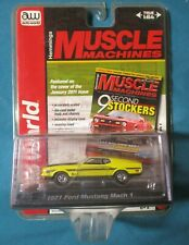 2014 Auto World 1971 FORD MUSTANG MACH 1 Hemmings Muscle Machines YELLOW