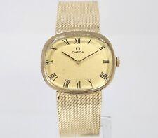 Vintage OMEGA D6798 14K Solid Gold 60GR 32mm Mesh C.620 Mens Swiss Manual Watch