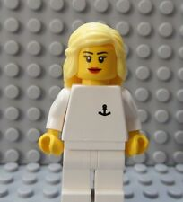 LEGO Minifig Cruise SHIP Yacht Sailor Crew Member Girl Female Blonde Hair