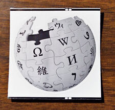"Wikipedia Sticker Globe Kiss-Cut Circle 2"""