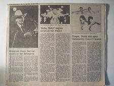 Louisville Courier Journal, 9-5-1982. Bill Monroe 71st Birthday Blue Grass Music