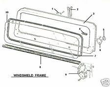 NEW WINDSHIELD GLASS 1968-1975 68-75 JEEP CJ CJ5 - SLIGHT TINT