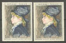 """FRANCE STAMP TIMBRE N° 1570 """" MODELE DE RENOIR, 2 COULEURS """" NEUFS xx TTB"""