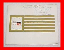 ELMO SUPER 106 SUPER 8 MOVIE FILM CAMERA INSTRUCTION MANUAL BOOKLET + FREE S&H
